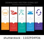 5 vector icons such as... | Shutterstock .eps vector #1102934936