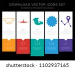 5 vector icons such as 360 view ... | Shutterstock .eps vector #1102937165