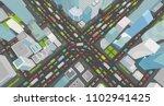 city street intersection... | Shutterstock .eps vector #1102941425