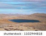 lake  drying global warming   Shutterstock . vector #1102944818