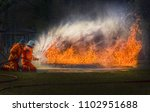 gas flame and explosive from... | Shutterstock . vector #1102951688