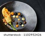 haute cuisine appetizer with...   Shutterstock . vector #1102952426