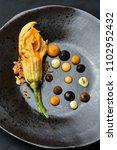 haute cuisine appetizer with...   Shutterstock . vector #1102952432