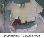 damaged painted old wall banner ... | Shutterstock . vector #1102957925
