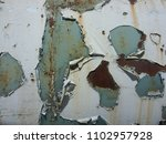 damaged painted old wall banner ... | Shutterstock . vector #1102957928