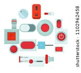 on off switch web buttons icons ... | Shutterstock .eps vector #1102962458