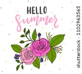 hello summer background with... | Shutterstock .eps vector #1102963565