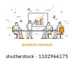group of businessmen is plannig ... | Shutterstock .eps vector #1102966175