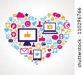 vector social media concept  ... | Shutterstock .eps vector #110296766
