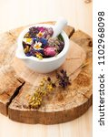 Medicinal Herbs And Flowers In...