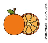 fresh oranges fruits icon | Shutterstock .eps vector #1102970846