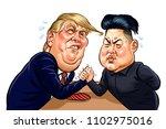 donald trump vs kim jong un...   Shutterstock .eps vector #1102975016