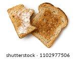 half eaten buttered slice of...   Shutterstock . vector #1102977506