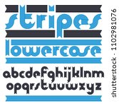 set of cool vector lowercase... | Shutterstock .eps vector #1102981076