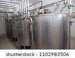 storage tanks for milk used for ... | Shutterstock . vector #1102983506