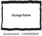 grunge frame. vector... | Shutterstock .eps vector #1102985855
