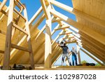 roof builders mounting... | Shutterstock . vector #1102987028