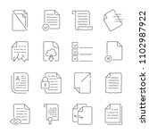 simple set of vector icons for... | Shutterstock .eps vector #1102987922