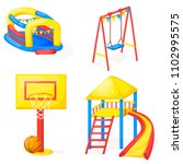 playground park cartoon vector... | Shutterstock .eps vector #1102995575