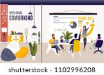 coworking space with creative... | Shutterstock .eps vector #1102996208