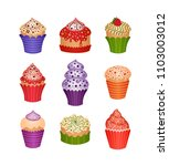 set of desserts. icons   Shutterstock .eps vector #1103003012