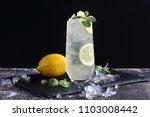 Stock photo ginger lemonade with lemon mint and ice 1103008442