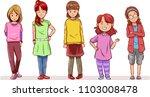 group of cartoon girl... | Shutterstock .eps vector #1103008478