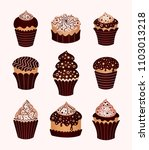 set of desserts. icons   Shutterstock .eps vector #1103013218