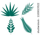 tropical palm tree branches.... | Shutterstock . vector #1103015522