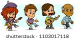 cartoon funny boy and girl... | Shutterstock .eps vector #1103017118