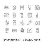 set of bar outline icons... | Shutterstock .eps vector #1103027045