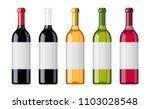 set of wine bottles with... | Shutterstock .eps vector #1103028548