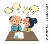 insurance and old senior man... | Shutterstock .eps vector #1103038655