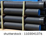 pvc pipes on the warehouse.... | Shutterstock . vector #1103041376