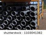 pvc pipes on the warehouse.... | Shutterstock . vector #1103041382