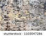 old rough cracked wall... | Shutterstock . vector #1103047286