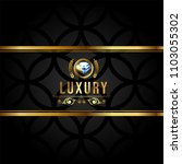 luxury banner with golden... | Shutterstock . vector #1103055302