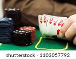 royal flash with chip cards on... | Shutterstock . vector #1103057792