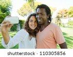 happy multi racial couple...   Shutterstock . vector #110305856