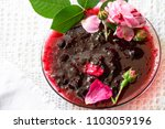 fragrant sweet thick red jam... | Shutterstock . vector #1103059196