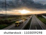 caravan or convoy of tank... | Shutterstock . vector #1103059298
