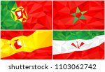 low poly flag  abstract... | Shutterstock .eps vector #1103062742