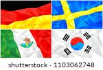 low poly flag  abstract... | Shutterstock .eps vector #1103062748