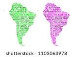 sketch south america letter...   Shutterstock .eps vector #1103063978