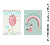 baby unicorn on the background... | Shutterstock .eps vector #1103064575