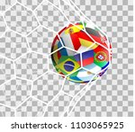 soccer ball with different... | Shutterstock .eps vector #1103065925