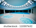 indoor swimming pool with... | Shutterstock . vector #110307632
