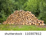 Stack Of Wood Wood Stacked For...