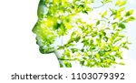 beauty  nature and ecology... | Shutterstock . vector #1103079392