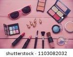 set of decorative cosmetics for ... | Shutterstock . vector #1103082032